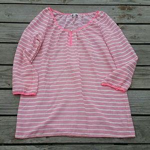 JCREW Womens Stripe Tunic Dress Sz Large
